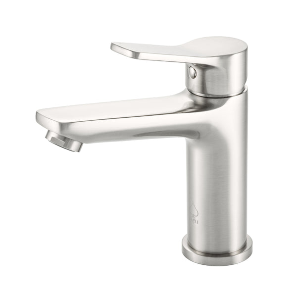 BAI 2606 Single Handle Contemporary Bathroom Faucet in Brushed Finish