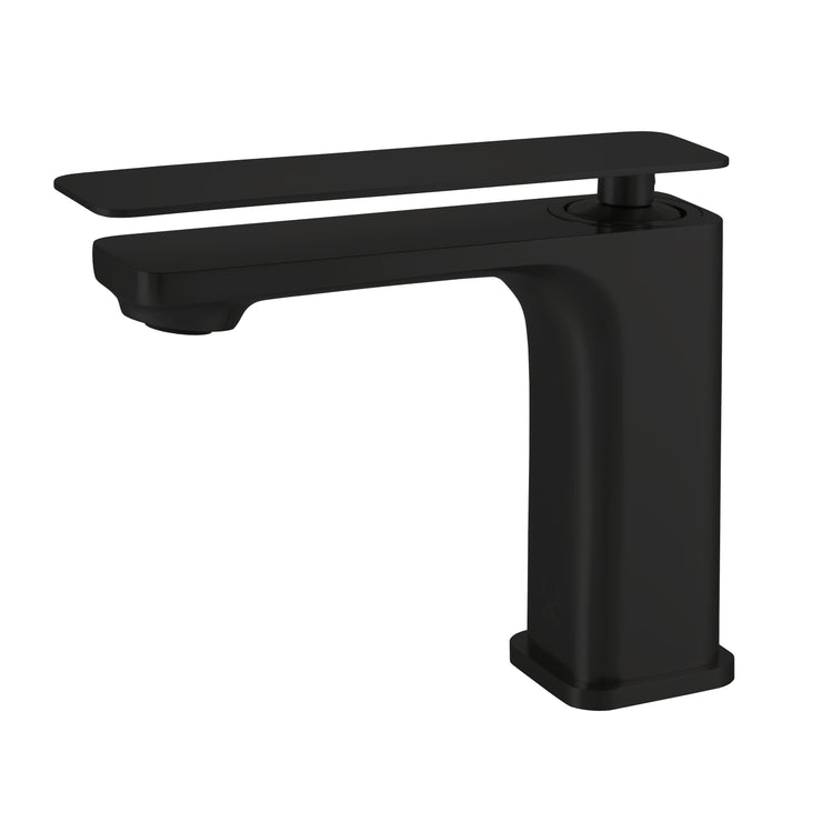 BAI 2608 Single Handle Contemporary Bathroom Faucet in Matte Black Finish