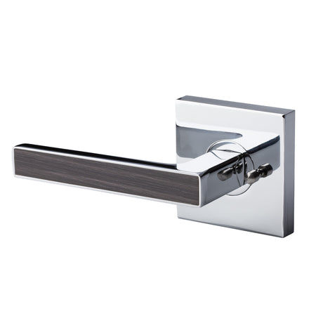 BAI 3056 Modern Passage Door Handle Lever Set with Privacy Pin Function