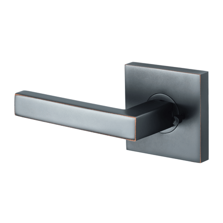 BAI 3062 Modern Passage Door Handle Lever Set with Privacy Pin Function