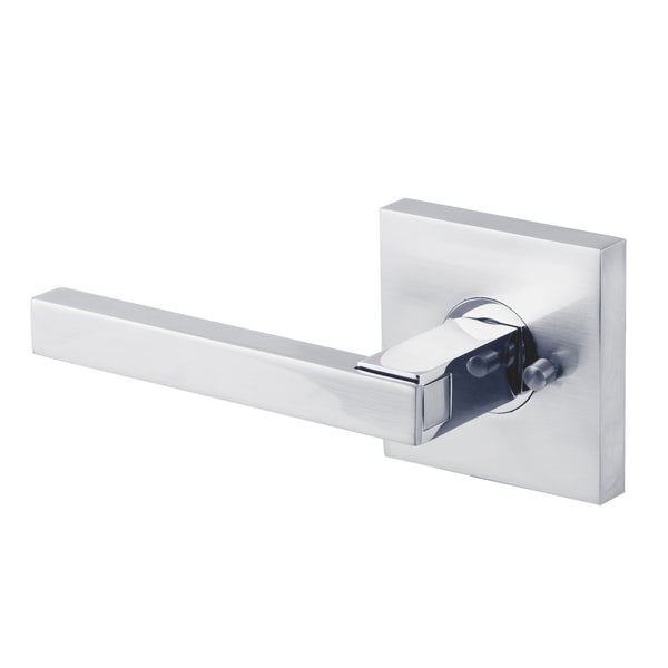 BAI 3068 Modern Passage Door Handle Lever Set with Privacy Pin Function