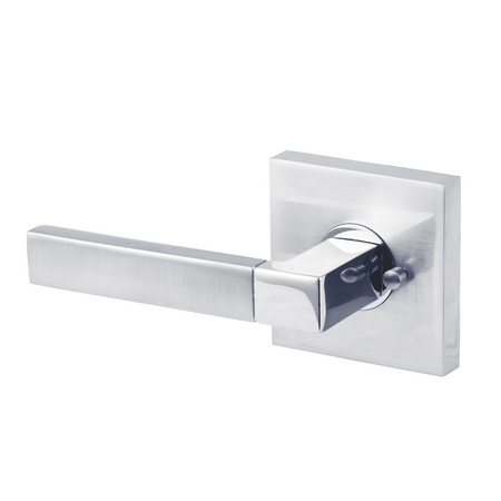 BAI 3070 Modern Passage Door Handle Lever Set with Privacy Pin Function