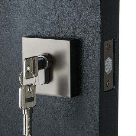 BAI 3089 Deadbolt / Square Rosette / Satin Gun Metal Finish