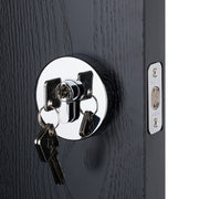 BAI 3092 Deadbolt / Round Rosette / Polished Chrome Finish