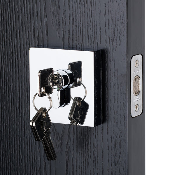 BAI 3093 Square Rosette Deadbolt in Polished Chrome Finish