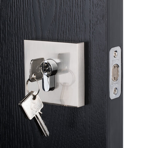 BAI 3095 Deadbolt / Square Rosette / Satin Nickel Finish