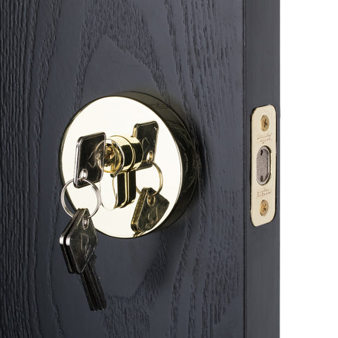 BAI 3097 Deadbolt / Round Rosette / Brass Finish