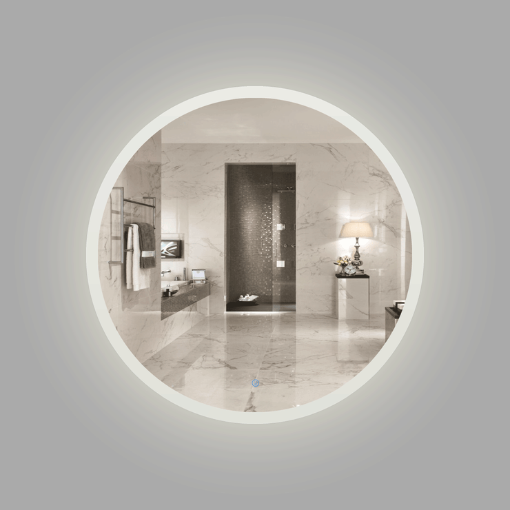 BAI 8042 Round 36-inch LED Bathroom Mirror with Frosted Edge & Anti-Fogging