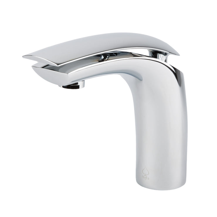 BAI 0613 Single Handle Contemporary Bathroom Faucet in Polished Chrome Finish