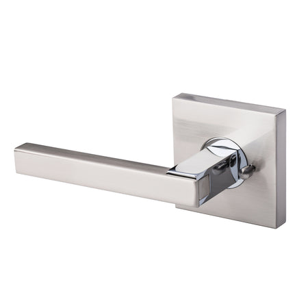 BAI 3014 Modern Passage Door Handle Lever Set with Privacy Pin Function