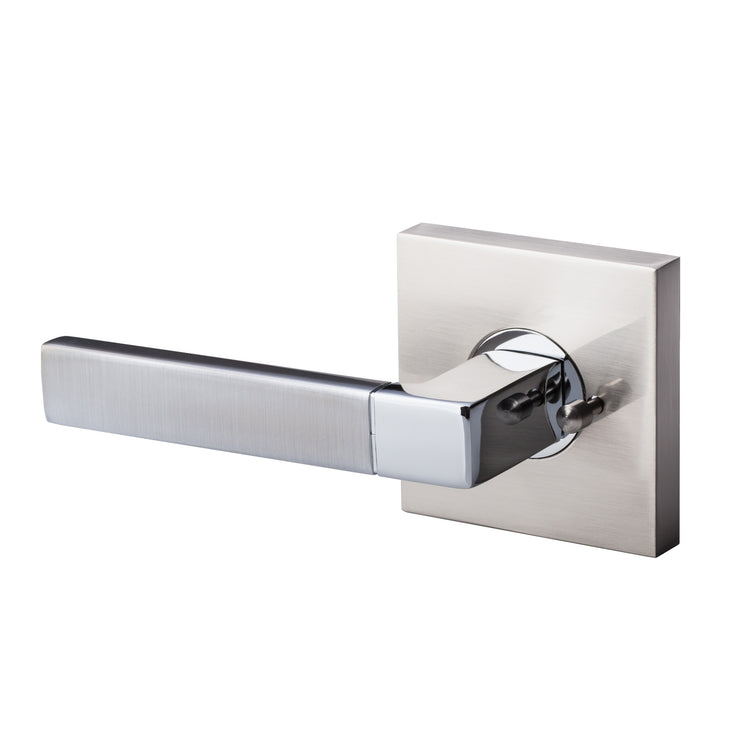 BAI 3018 Modern Passage Door Handle Lever Set with Privacy Pin Function