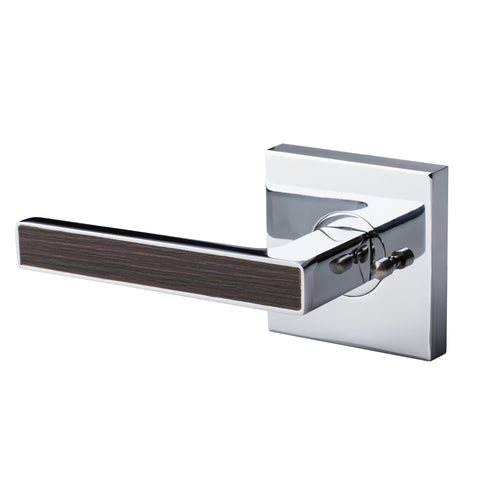 BAI 3022 Passage / Privacy Modern Door Lever / Handle Set With Interchangeable Faceplates