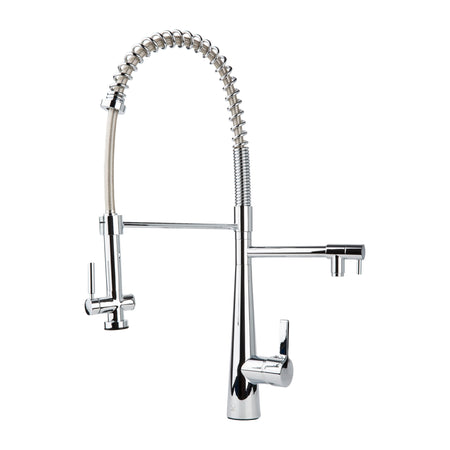 BAI 0602 Single Handle Two Spouts Kitchen Faucet With Pull-Down Spray