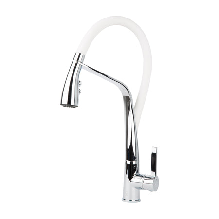 BAI 0605 Single Handle Kitchen Faucet with Pull-Down System in Polished Chrome Finish