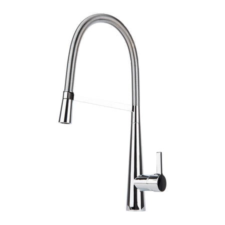 BAI 0607 Single Handle Kitchen Faucet With Pull-Down Spray / Polished Chrome