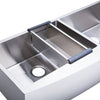 BAI 1295 Farmers / Apron Double Bowl Kitchen Sink Handmade Stainless Steel 48""