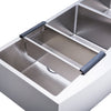 BAI 1297 Farmers / Apron Double Bowl Kitchen Sink Handmade Stainless Steel 48""