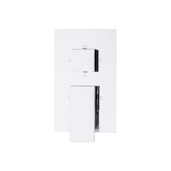 BAI 0111 Concealed Shower Mixer With Water Pressure Balance Valve 2-3 Functions (Square Knobs)