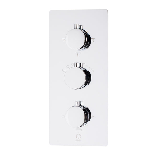BAI 0103 Concealed Thermostatic Shower Mixer / Valve 4-6 Functions (Round Knobs)