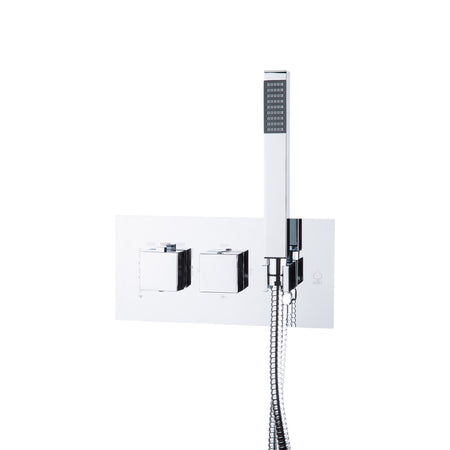 BAI 0113 Concealed Thermostatic Shower Mixer Valve with Handheld Shower in Polished Chrome Finish
