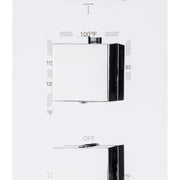 BAI 0105 Concealed Thermostatic Shower Mixer Valve in Polished Chrome Finish