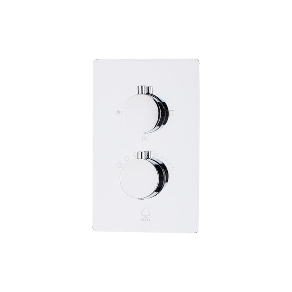 BAI 0106 Concealed Thermostatic Shower Mixer / Valve 2-3 Functions (Round Knobs)