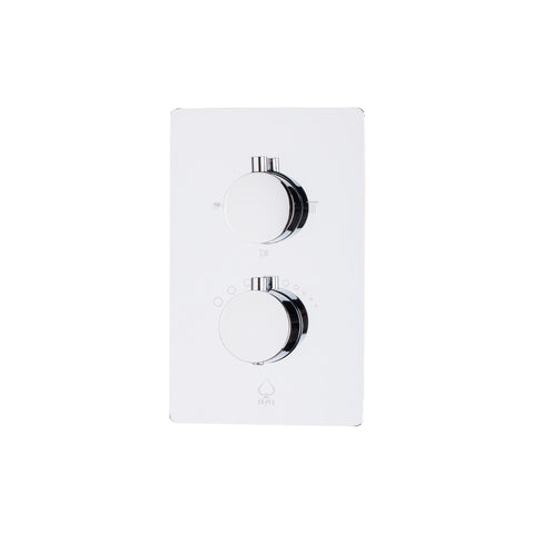 BAI 0106 Concealed Stainless Steel Thermostatic Shower Mixer / Valve 2-3 Functions (Round Knobs)