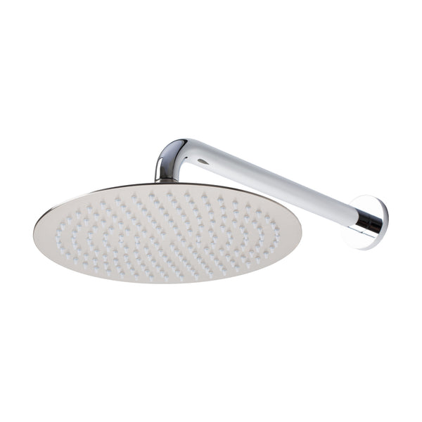 "BAI 0413 Stainless Steel 10"" Round Rainfall Shower Head / Brushed Nickel Finish"