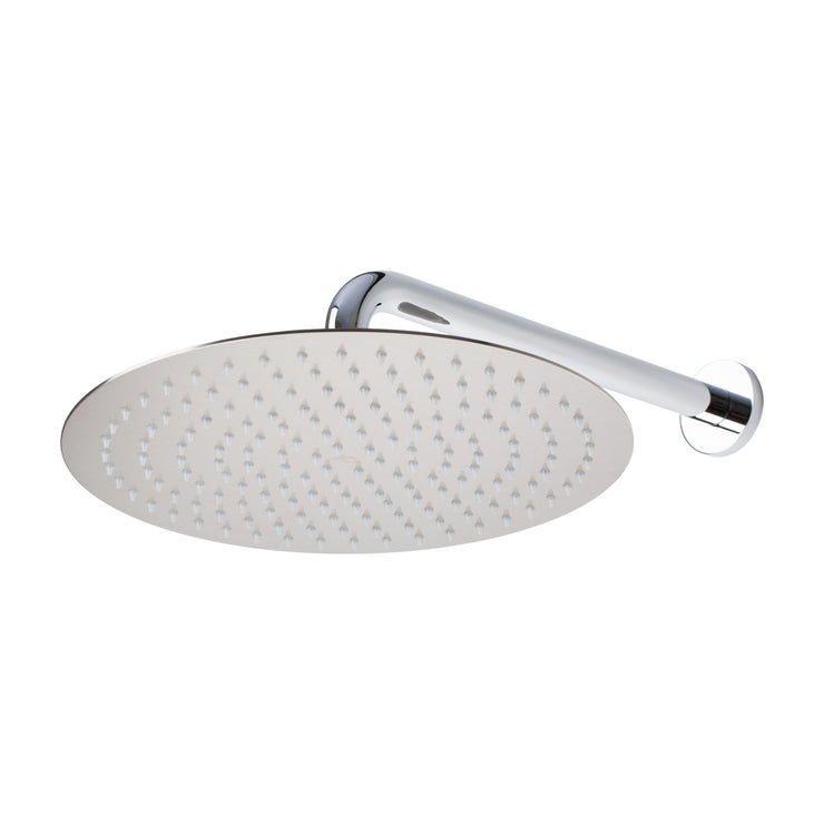 BAI 0414 Stainless Steel 12-inch Round Rainfall Shower Head in Brushed Nickel Finish