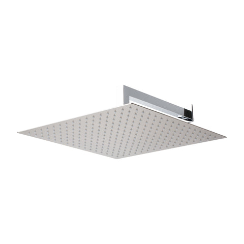 "BAI 0421 Stainless Steel 16"" Square Rainfall Shower Head / Brushed Nickel Finish"
