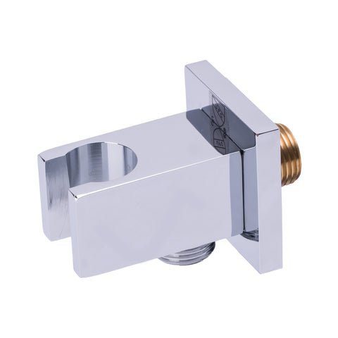 BAI 0195 Wall Mount Hand Held Shower Holder With Outlet Square