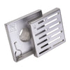 "BAI 0565 Stainless Steel Square Shower Drain 5""x5"""