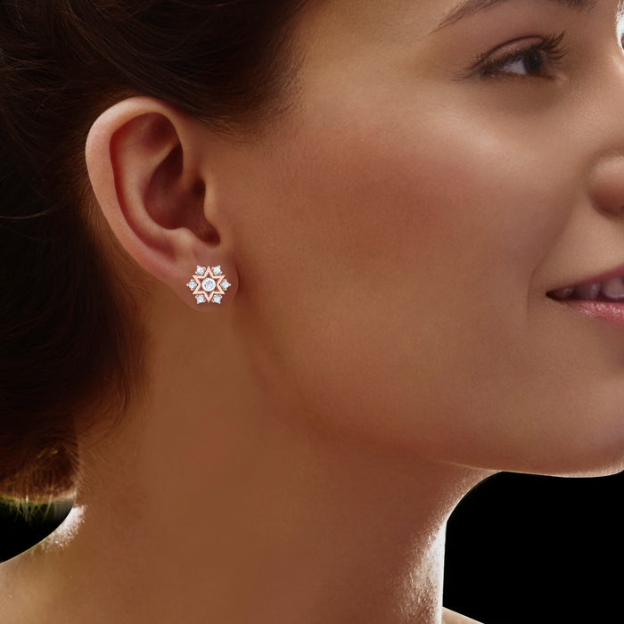 Flawless Starry Sterling Silver Stud Earrings