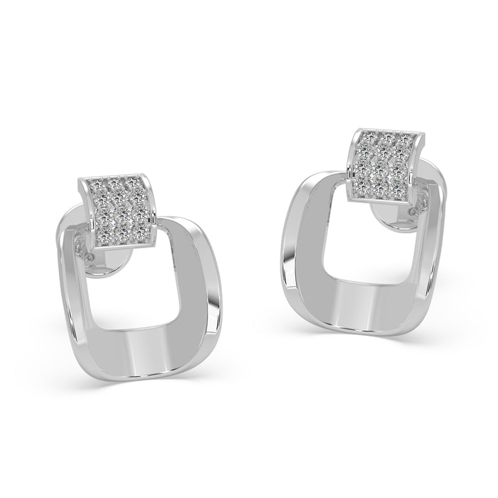 Vivid Structured Sterling Silver Earrings