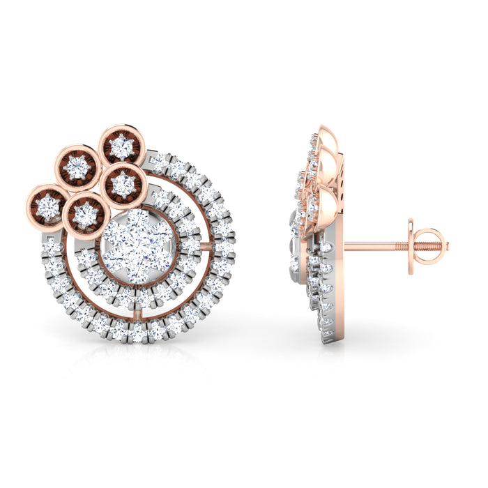 Sumptuous Discoid Sterling Sliver Stud Earrings