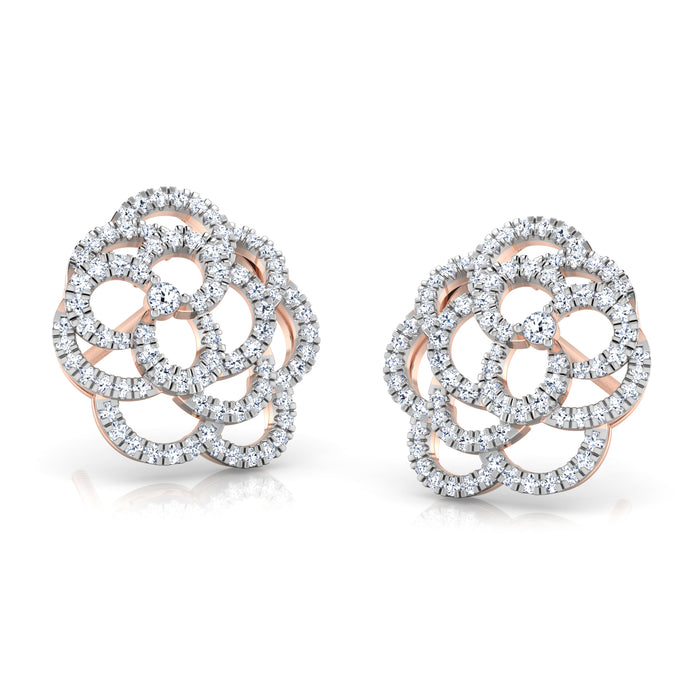 Trendsetter Floweret Sterling Silver Stud Earrings