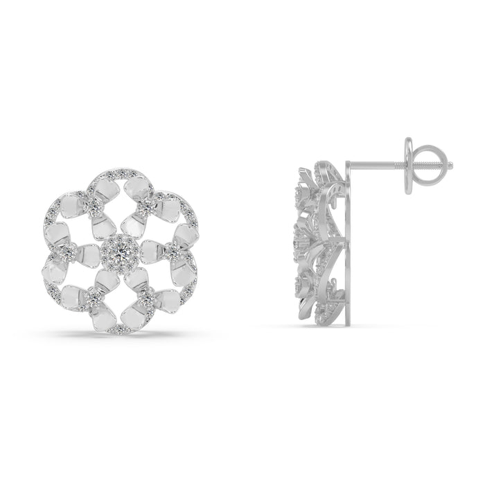Effulgent Sterling Silver Stud Earrings With A Modest Look
