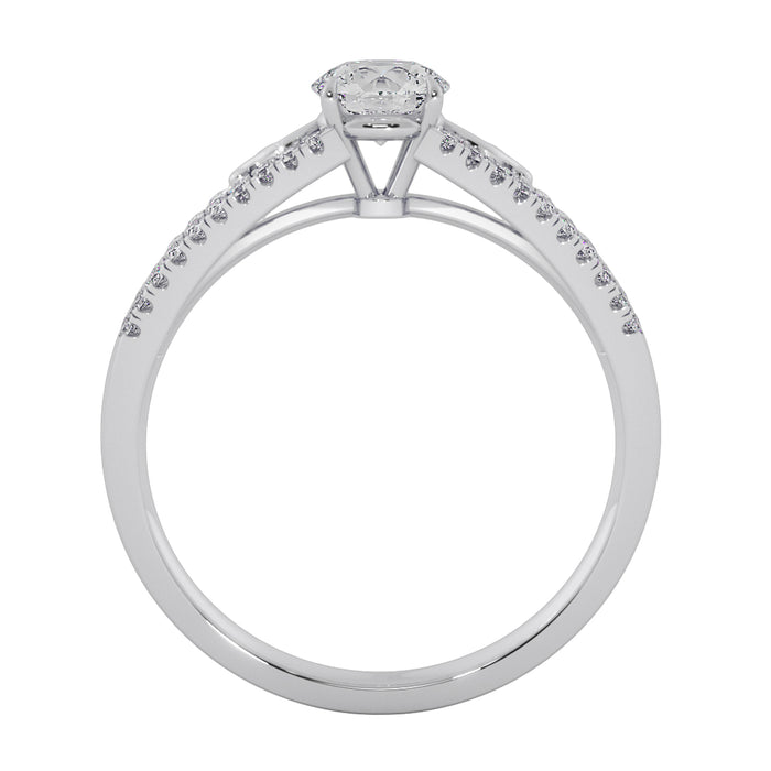 Limelight Sterling Silver Solitaire Ring