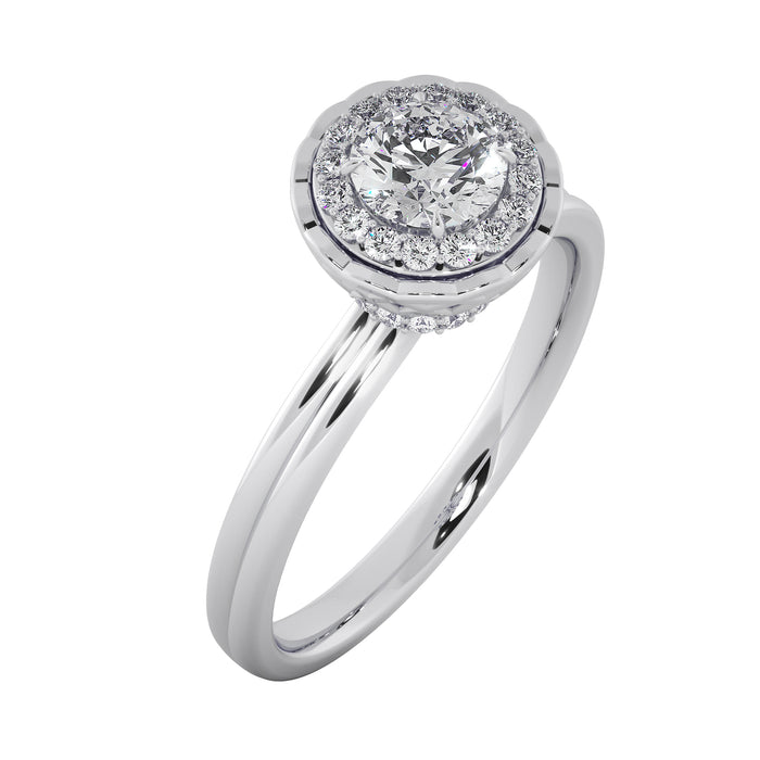 Groovy Sterling Silver Solitaire Ring