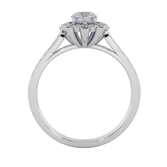 Ultra-Modern Sterling Silver Solitaire Ring