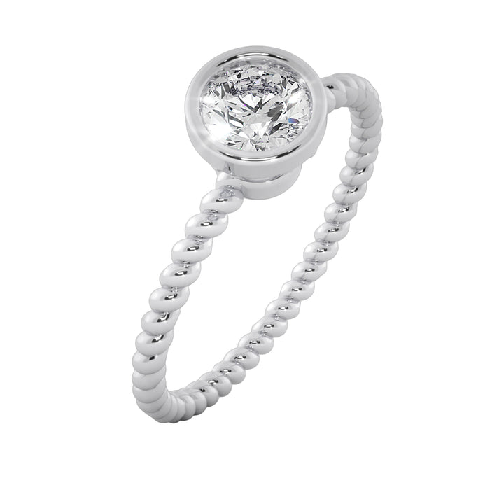Twisted Texture Sterling Silver Ring