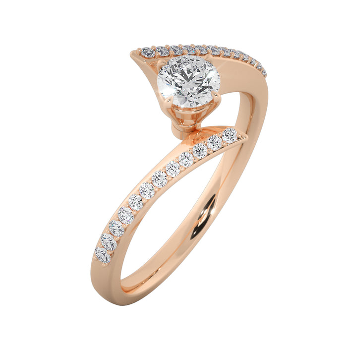 Glimmering Sterling Silver Solitaire Ring
