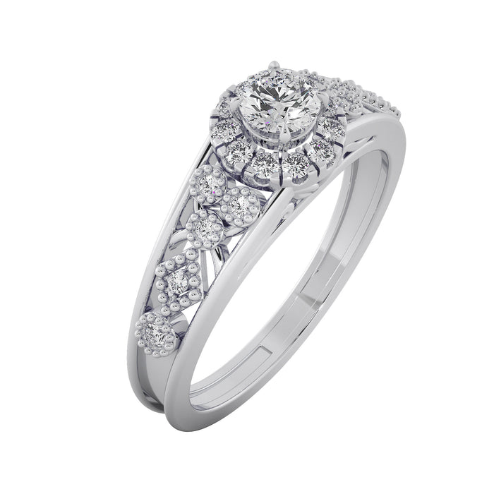 Vivacious Bloom Sterling Silver Solitaire Ring