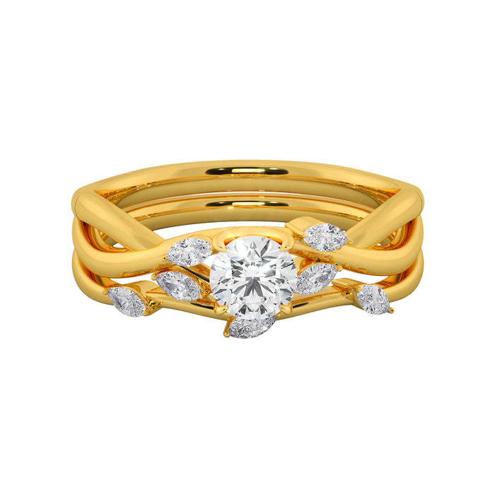 Beauteous Tangled Stackable Sterling Silver Solitaire Ring