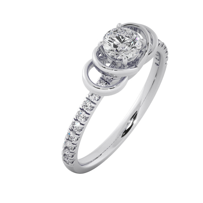 Heart-throb Sterling Silver Solitaire Ring