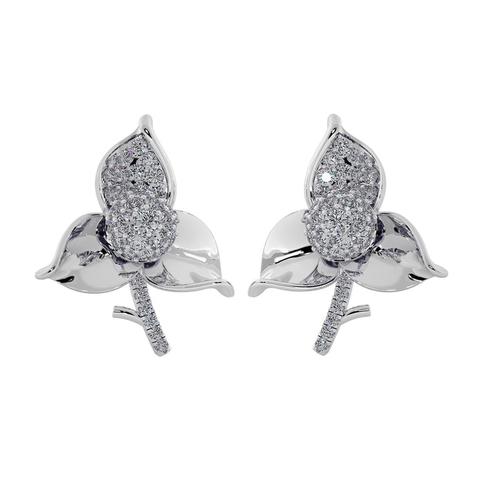 Sensational Leaflet Sterling Silver Earrings