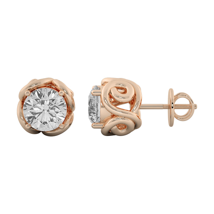 Mesmerizing Glowy Sterling Silver Stud Earrings