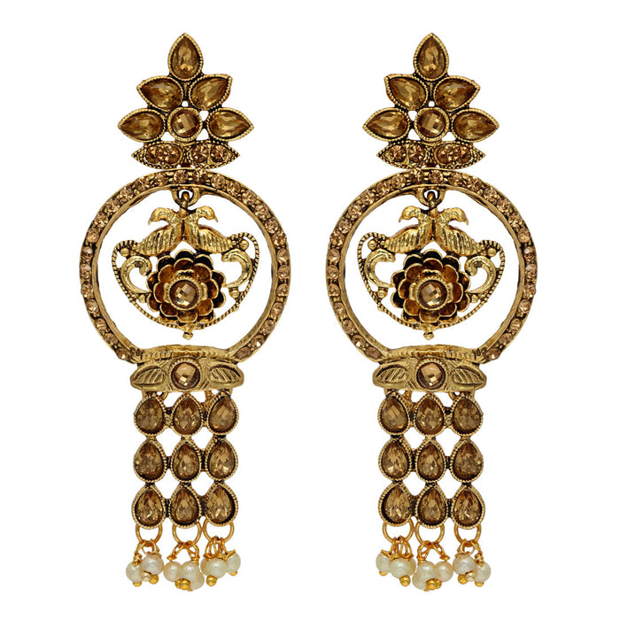 Glass Stone Antique Earring