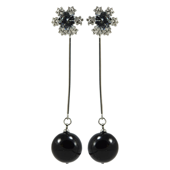 Unique Pendulam Earrings with Stone Stud