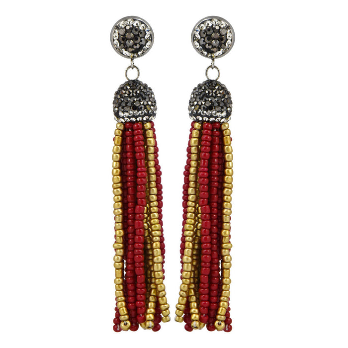 Long Thread Tassel Earrings